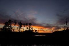 Autumn Sunset Over Marshland Royalty Free Stock Images