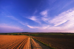 Autumn sunset royalty free stock photography