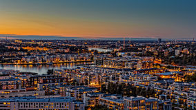 Autumn Sunset, Stockholm Stock Photo