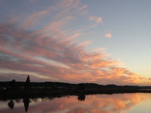 Autumn sunset at Teganuma Lake, Japan Stock Photos