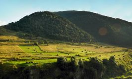 Autumn sunset in Zaramag region, North Ossetia-Alania, Russia Stock Photos