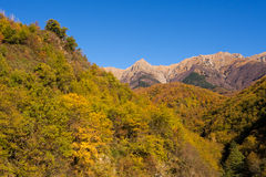Autumn sunshine on the Apuane Alps,Italy. Stock Image