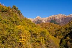 Autumn sunshine on the Apuane Alps,Italy. Stock Image