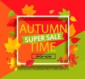 Autumn Super Sale Banner Immagine Stock Libera da Diritti