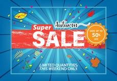 Autumn super sale flyer template banner at discount up to 50% off. Autumn super sale flyer template banner at discount up to 50% off,vector illustration design vector illustration
