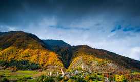 Autumn in Svaneti, Georgia Stock Images