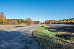 Autumn in Sweden. Autumn in the countryside of Ostergotland, Sweden on a sunny day in October 2017 Stock Photography