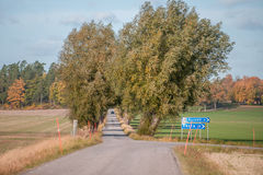 Autumn in Sweden. Autumn in the countryside of Vikbolandet in Ostergotland, Sweden Stock Photography
