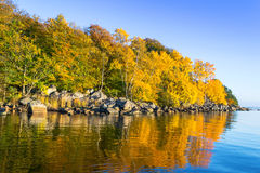Autumn on Swedish sea coast Stock Photo