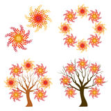 Autumn swirl symbols Royalty Free Stock Image