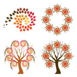 Autumn swirl symbols Royalty Free Stock Photography