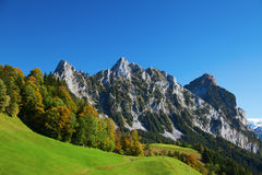 Autumn in swiss alps Royalty Free Stock Image