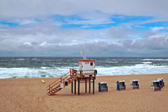 Autumn on sylt. Autumn on lonely beach of sylt Royalty Free Stock Photography