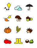 Autumn symbols Royalty Free Stock Photos