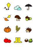 Autumn symbols Royalty Free Stock Photos