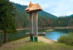 Autumn Synevir mountain lake Royalty Free Stock Images