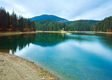 Autumn Synevir mountain lake Royalty Free Stock Photography