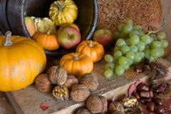 Autumn table Royalty Free Stock Photo