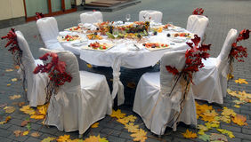 autumn table Royalty Free Stock Photo