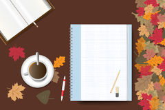 Autumn table concept Royalty Free Stock Image