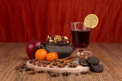 Autumn table Royalty Free Stock Image