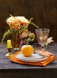 Autumn Table Setting stock fotografie