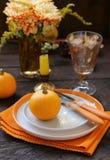 Autumn Table Setting royalty-vrije stock afbeeldingen