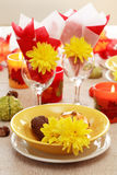Autumn table setting Stock Images