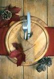 Autumn Table Setting Lizenzfreie Stockfotos