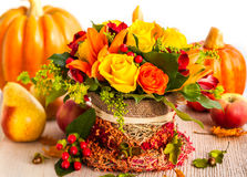 Autumn Table Setting Lizenzfreies Stockbild