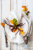 Autumn Table Setting Photographie stock