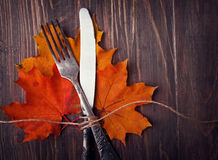 Autumn Table Setting Lizenzfreie Stockbilder