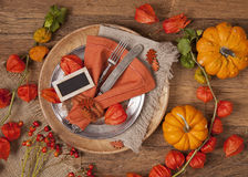 Autumn Table Setting Stock Foto