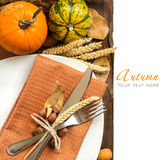 Autumn Table Setting Stockbild
