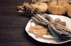 Autumn Table Setting Stockbilder
