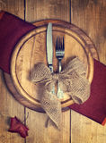 Autumn Table Setting Royalty Free Stock Photography
