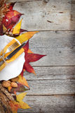 Autumn table setting - retro table setting Royalty Free Stock Images