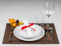 Autumn table setting royalty free stock photos