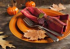 Autumn table setting Stock Photography