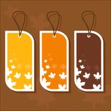 Autumn tags Royalty Free Stock Photos
