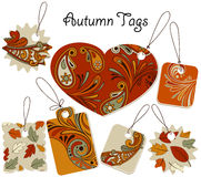 Autumn Tags Stock Images
