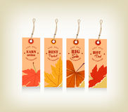 Autumn with tags for seller Stock Image