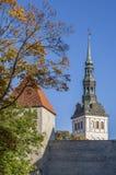 Autumn In Tallinn Medieval Old-Stadt Lizenzfreies Stockfoto