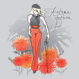 Autumn tangerine fashion Royalty Free Stock Photography