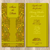 Autumn tansy wedding invitation card. Printable Vector illustration Stock Photo