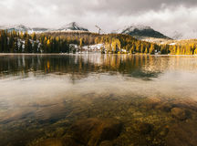 Autumn in the Tatra Mountains,Strbskie Pleso Lake,Slovakia Royalty Free Stock Photo