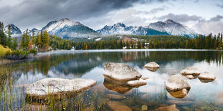 Autumn in the Tatra Mountains,Strbskie Pleso Lake,Slovakia Royalty Free Stock Image