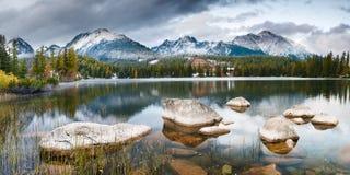 Autumn in the Tatra Mountains,Strbskie Pleso Lake,Slovakia. Autumn in the Tatra Mountains,Strbskie Pleso Lake Royalty Free Stock Image