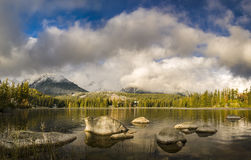 Autumn in the Tatra Mountains,Strbskie Pleso Lake,Slovakia Royalty Free Stock Photos