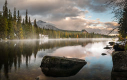 Autumn in the Tatra Mountains,Strbskie Pleso Lake,Slovakia Stock Photo